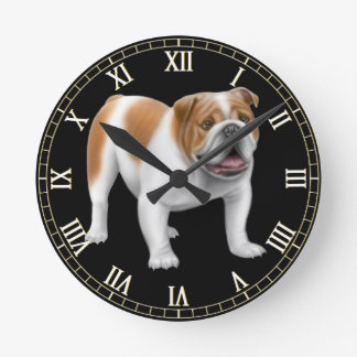 Friendly English Bulldog Wall Clock