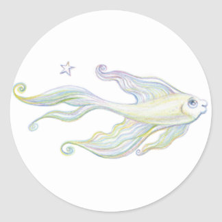 Friendly Fish Classic Round Sticker