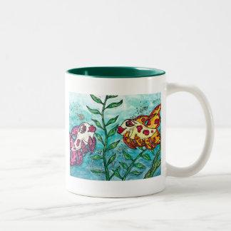 Friendly Fish Two-Tone Coffee Mug