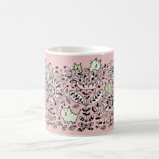Friendly Flower Cats Mug