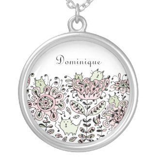Friendly Flower Cats Necklace
