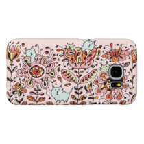 Friendly Flower Cats Pink Samsung Galaxy S6 Case