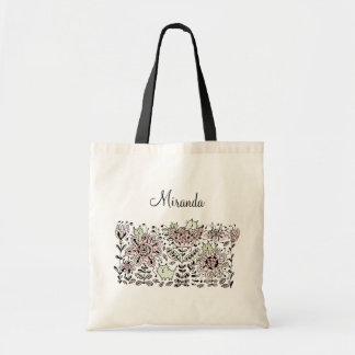 Friendly Flower Cats Tote Bag