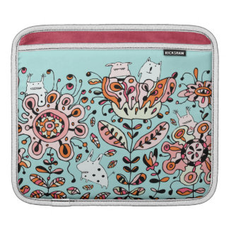 Friendly Flower Monsters iPad Sleeve