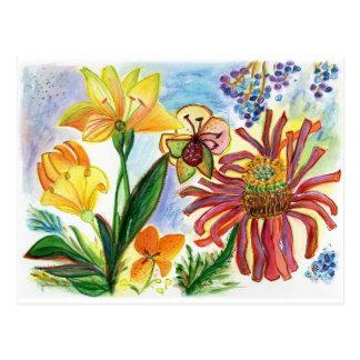 Friendly Flowers 77 Postcard
