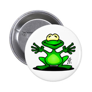 Friendly Frog 2 Inch Round Button
