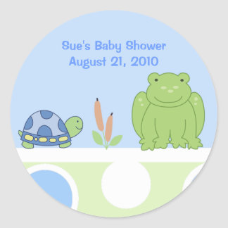 Friendly Frog and Turtle Custom Sticker