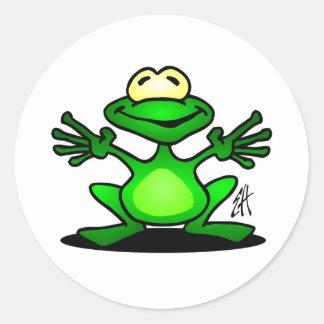 Friendly Frog Classic Round Sticker
