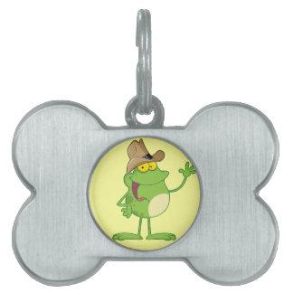Friendly Frog Cowboy Pet Tag