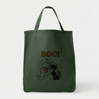 Friendly Ghost and Black Cat Tote Bags