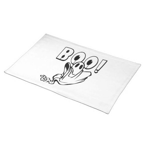 Friendly Ghost Floating Your Way! BOO! Place Mats