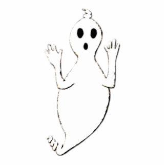 Friendly Ghost Photo Sculpture Button