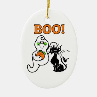 Friendly Ghosts Ceramic Ornament