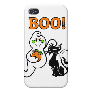 Friendly Ghosts Cover For iPhone 4