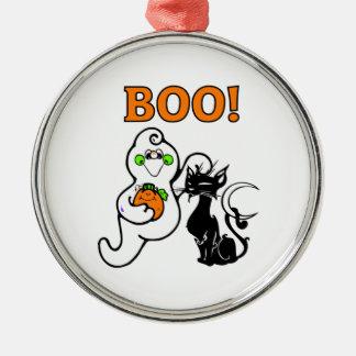 Friendly Ghosts Metal Ornament