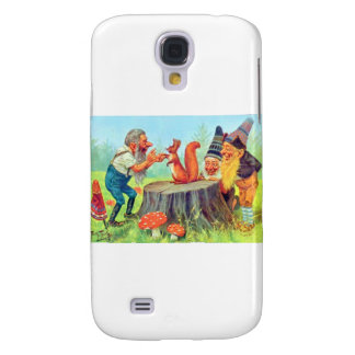 Friendly Gnomes Observe a Squirrel Samsung S4 Case