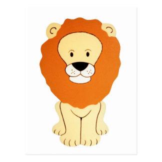 Friendly Golden Lion Postcard