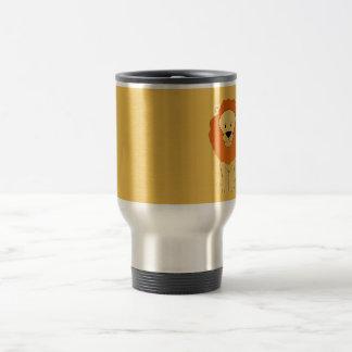 Friendly Golden Lion Travel Mug
