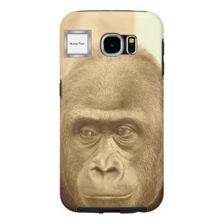 friendly gorilla, sepia samsung galaxy s6 cases