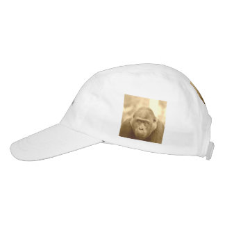 friendly gorilla, sepia headsweats hat