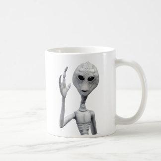 Friendly Grey Alien Coffee Mug