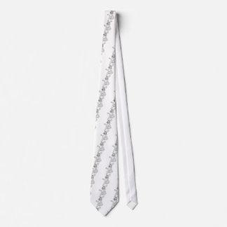 Friendly Grey Cartoon Bunny Rabbit Neck Tie