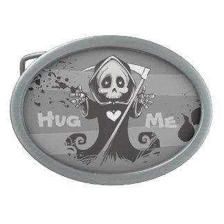 Friendly Grim Ripper - Hug me Oval Belt Buckle