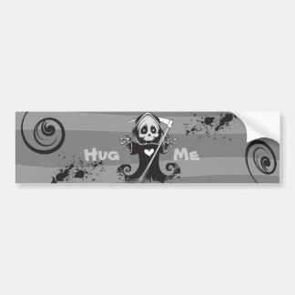 Friendly Grim Ripper - Hug me Bumper Sticker