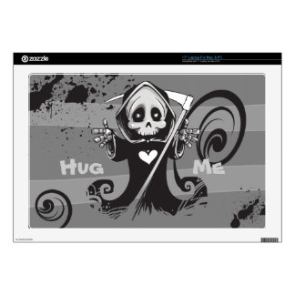 Friendly Grim Ripper - Hug me Decal For Laptop