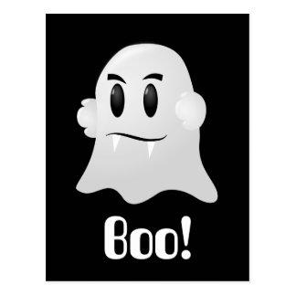 Friendly Halloween Ghost Postcard