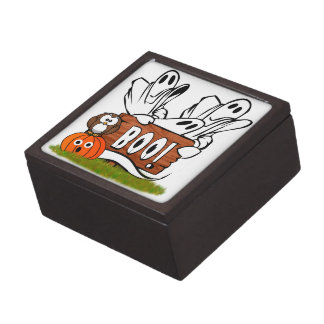 Friendly Halloween Ghosts and Pals Premium Trinket Boxes