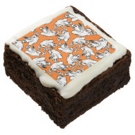 Friendly Halloween Ghosts Floating Your Way! Square Brownie