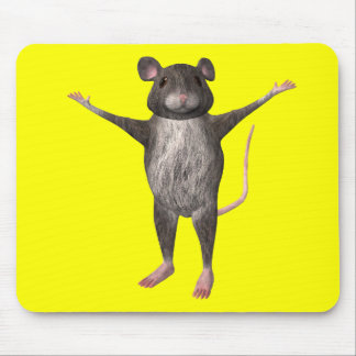 Friendly House Mouse Mouse Pad