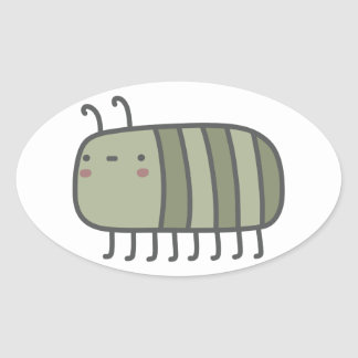 Friendly Insect Oval Sticker