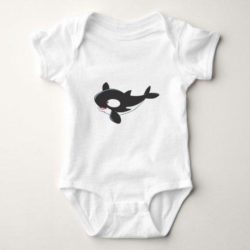 Friendly Killer Whale Baby Bodysuit