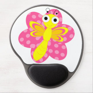 Friendly lady dragonfly mouse pad