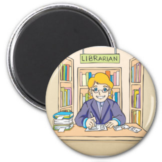 Friendly Librarian Magnet