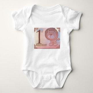 Friendly lion 1st birthday baby bodysuit
