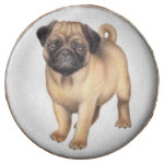 Friendly Little Pug Dog Dipped Oreo Cookies Chocolate Covered Oreo
