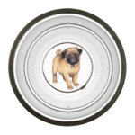 Friendly Little Pug Dog Food Bowl Pet Bowl