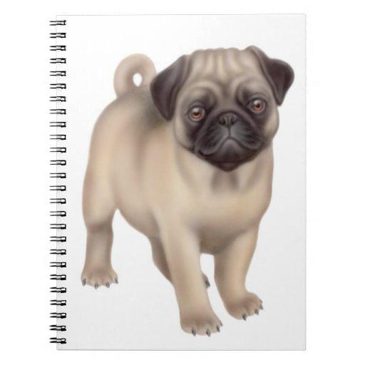 Friendly Little Pug Dog Notebook