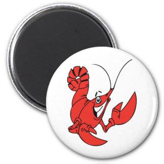 Friendly Lobster 2 Inch Round Magnet
