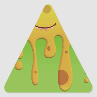 Friendly melting monster triangle sticker