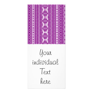 friendly mixed borders purple rack card template