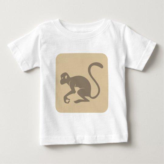 Friendly Monkey Icon Baby T-Shirt