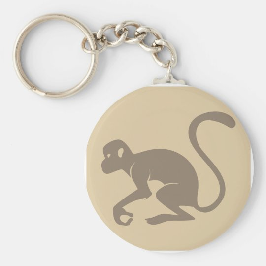 Friendly Monkey Icon Keychain