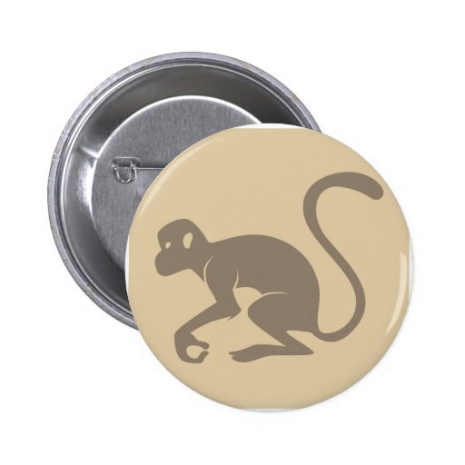 Friendly Monkey Icon Pin