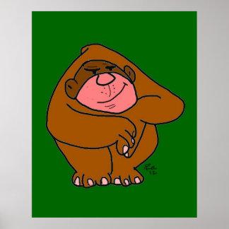 Friendly Monkey Kids Picture Cartoon Poster