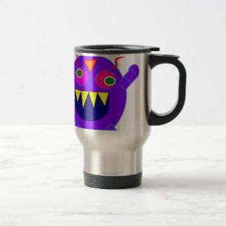 Friendly monster 15 oz stainless steel travel mug