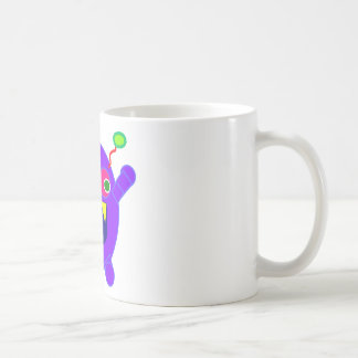Friendly monster classic white coffee mug